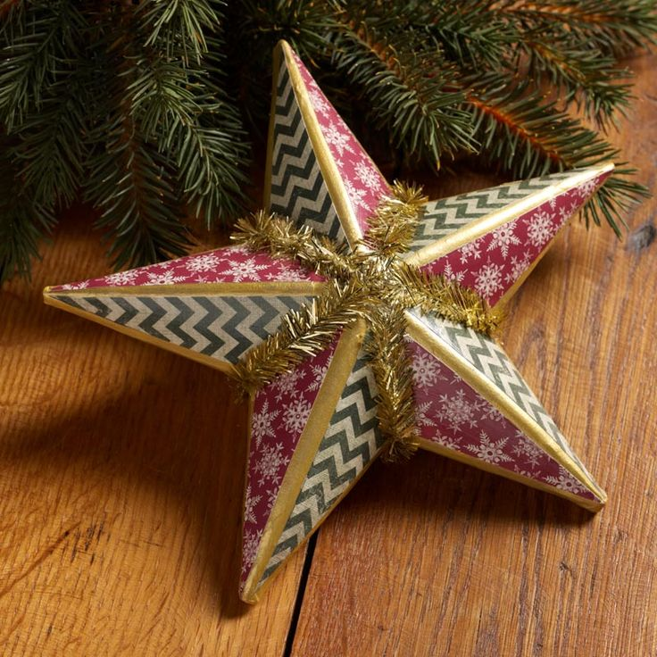 148 best mod podge home for the holidays images on for Christmas star craft ideas