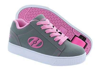 Heelys Straight Up Roller Shoe (Grey/Pink)