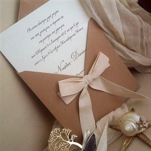 Πρωτότυπα προσκλητήρια γάμου με κορδέλα