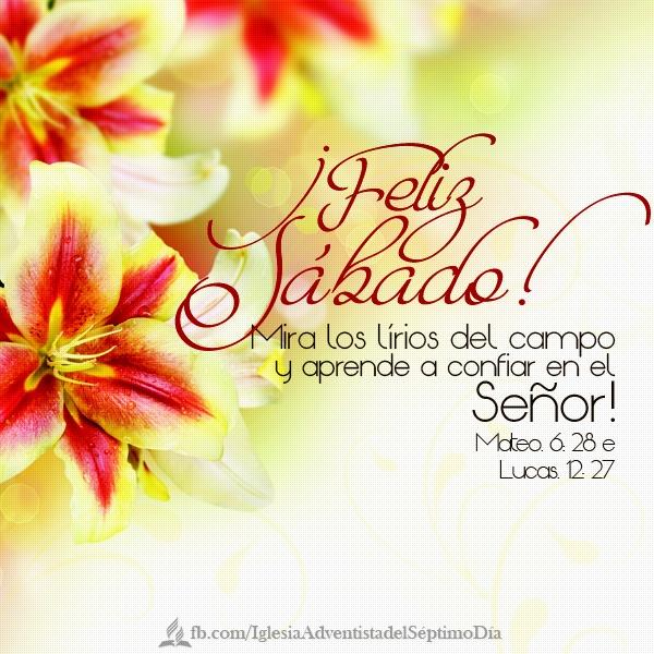 Feliz Sabado! día de oracion