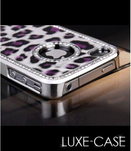 Luxury Bling Rhinestone Leopard Hard Case iPhone 4 4S