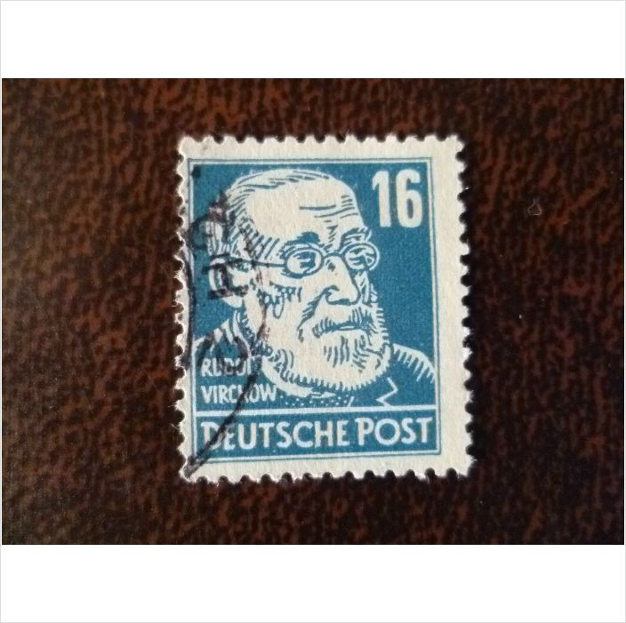 Germany 1948 Rudolf Virchow 16pf fine used stamp SGR39 Scientist