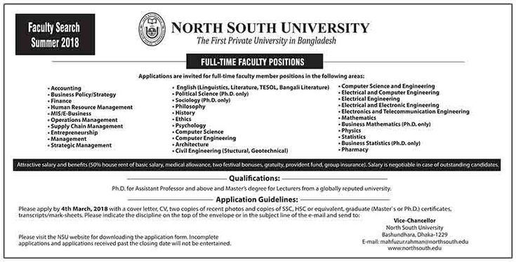 North South University job