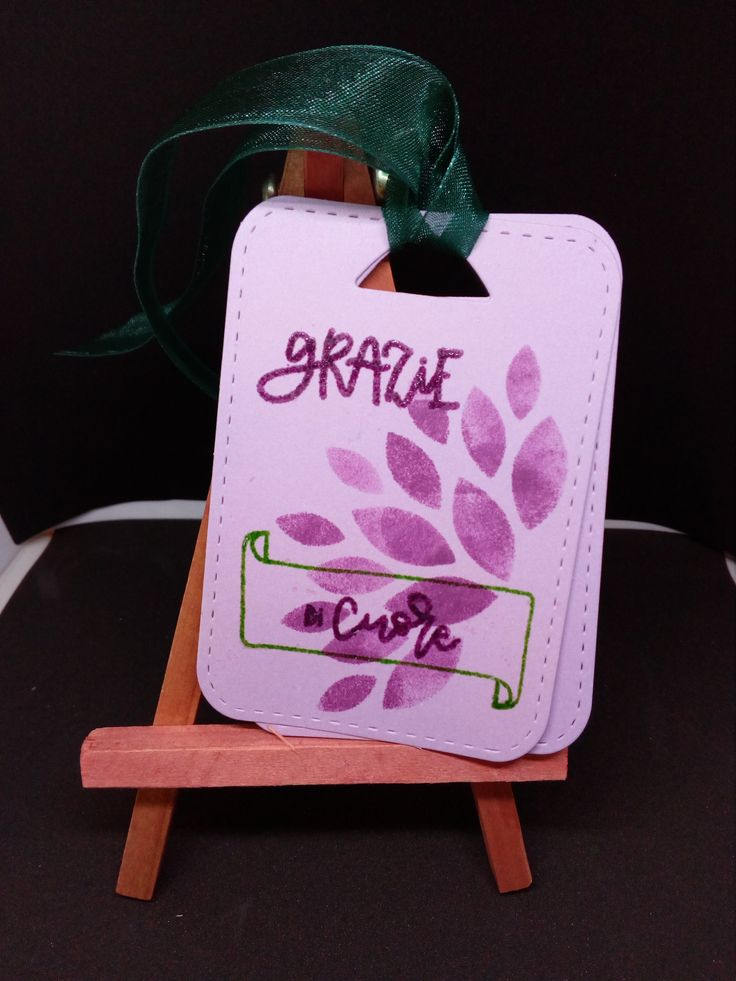 """Enrica -Tag di ringraziamento. Per realizzarla ho utilizzato la fustella e i timbri de  """"La Coppia Creativa""""  http://www.lacoppiacreativa.com/"""