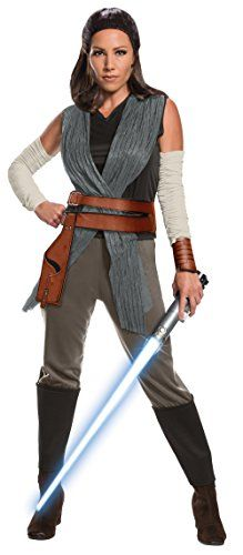 Deluxe Rey costume top with attached wraps, pants with attached boot tops, cuff, arm warmers, and belt Important: costumes are sized differently than clothing, important to consult Rubie's adult size chart and recent reviews to make best selection Officially licensed Star Wars Episode VIII: The Last Jedi  costume, only items shipped and sold by Amazon can be guaranteed to be authentic