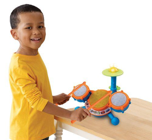 Kids learning toy has three drum pads and cymbal each with its own unique sound for sensory development Toddlers can play along to 9 melodies in styles including rock, dance and pop; music toy teaches letters, numbers, and music Kids drum set has 4 modes of play: Free Play, Letters, Numbers, and Follow-Along; each drum features a unique LED light ...  toys4mykids.com