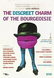 The Discreet Charm of the Bourgeoisie, dir. Luis Buñuel. Bizarre. Funny. Open-ended.