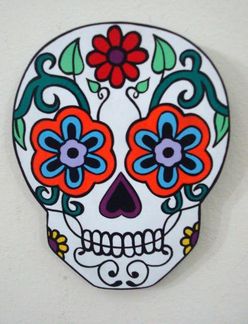 Calavera mexicana Flores