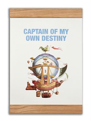 """Captain of my own destiny"" #messageearth #sustainable #poster #sustainability #eco #design #ecodesign #vintage"