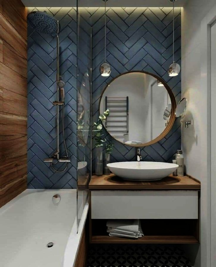 Mooxury Mildew Resistant Shower Curtain Liner 3d Circle Modern Design Eva Bathroom Curtains Water Repellent Antibacterial Nontoxic 72x72 Inch Sovremennyj Dizajn Vannoj Zerkala Dlya Vannyh Komnat Sovremennaya Vannaya