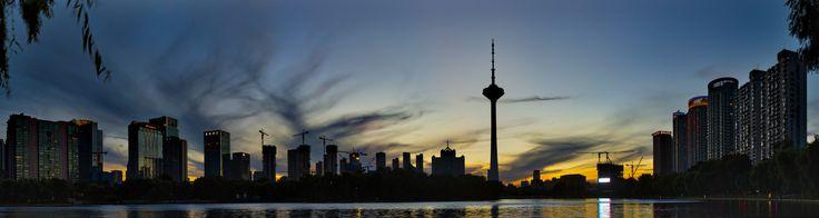 https://flic.kr/p/ympaVh | Shenyang Skyline | @ Liaoning TV Tower in Shenyang China at Sunset