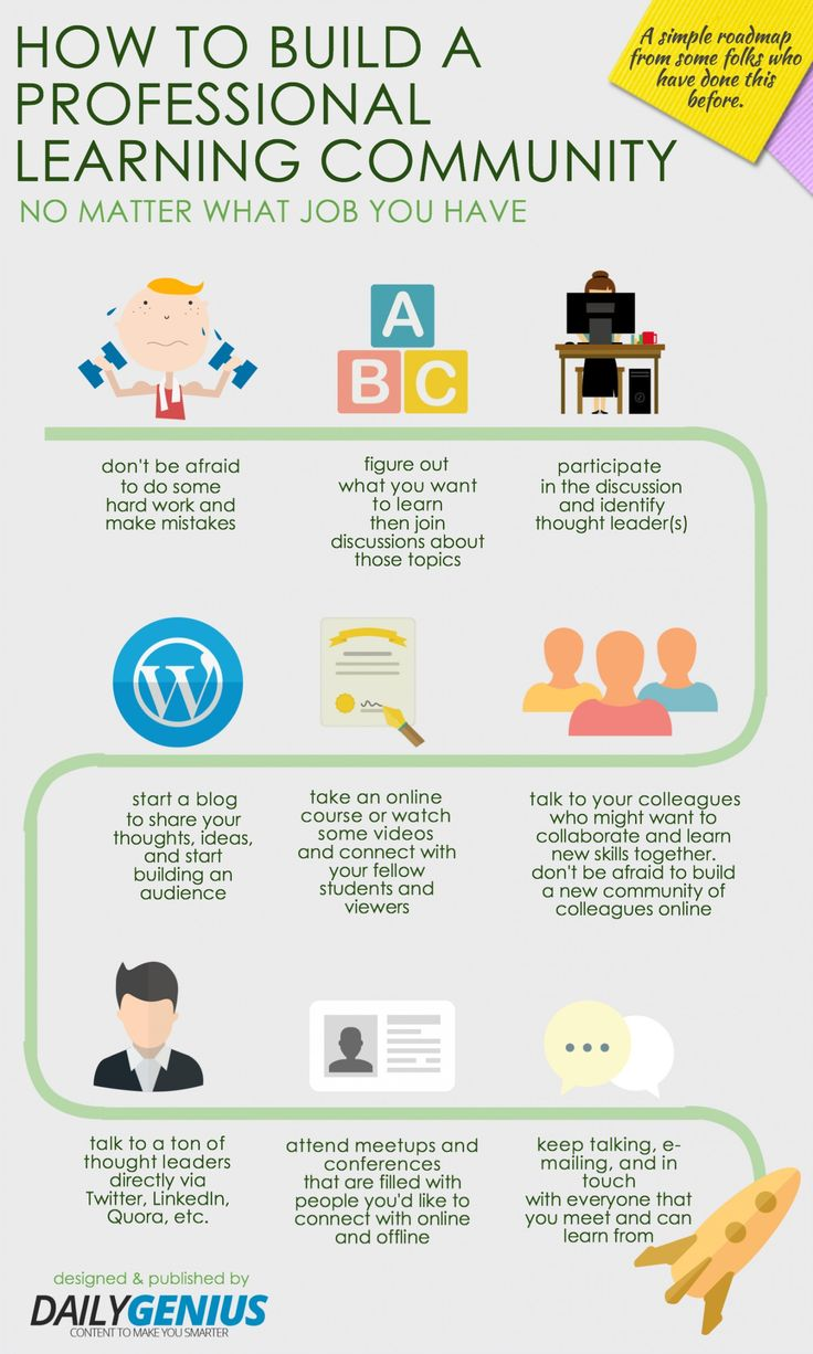 10 great tips for building your Professional Learning Community | #infographic via Edudemic