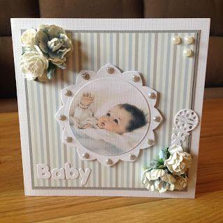 Randis hobbyverden: Babykort i lyseblått