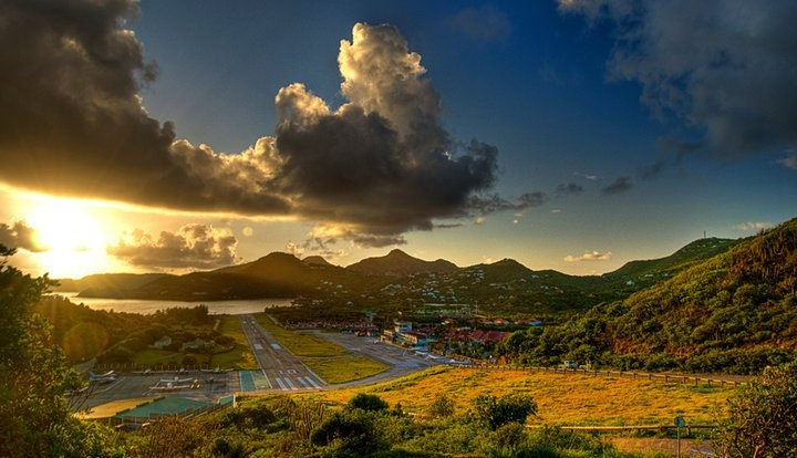 Gustavia Airport and St. Jean...