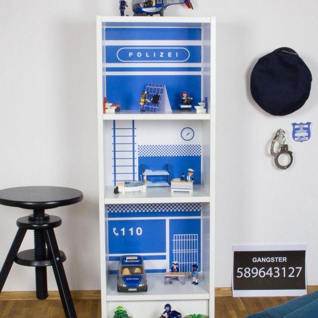 Dekorationsfolie Polizeistation für Spielhaus IKEA BILLY