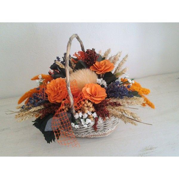 kvetinový košík orange 40 cm