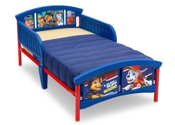 There's no job too big and no pup too small for Chase and this Nick Jr. PAW Patrol Plastic Toddler Bed by Delta Children. Featuring adorable decals of Chase, Marshall, Rubble and all their furry frien