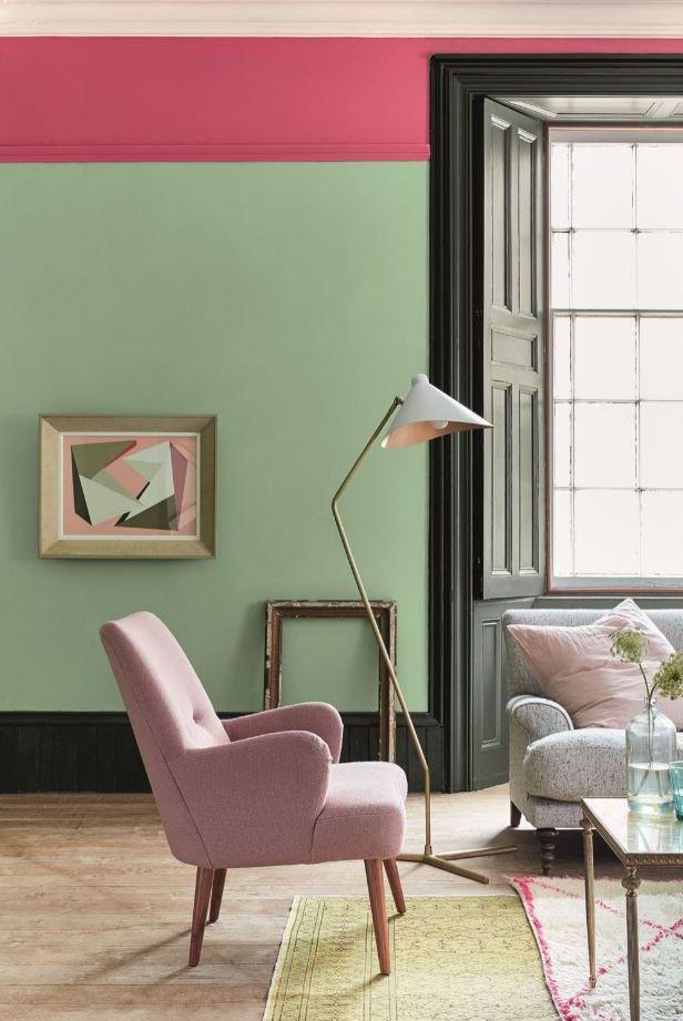 Peinture Salon Les Plus Belles Couleurs Pour Votre Salon Salon Vert Decoration D Une Petite Piece Couleur De Salle De Sejour