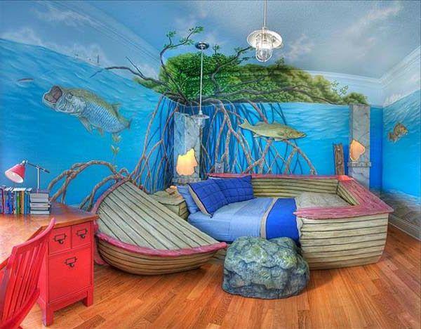 Kinderzimmer  Komplett Set Blaue Wandgestaltung