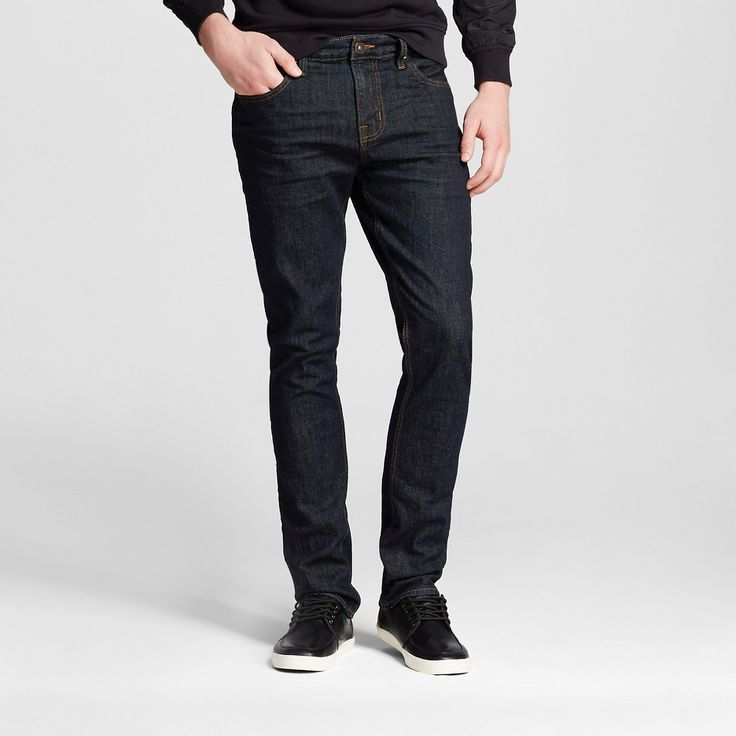 Men's Slim Jeans Dark Wash - Mossimo Supply Co. 34x30, Blue