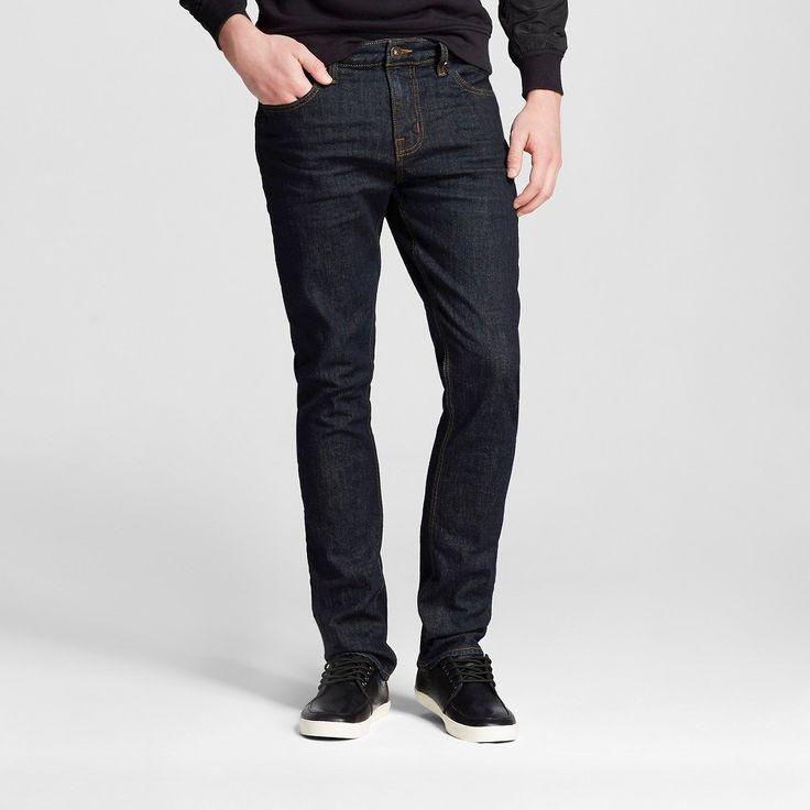 Men's Slim Jeans Dark Wash - Mossimo Supply Co. 34x30, Blue