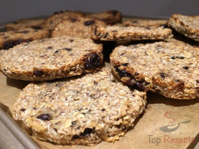 Ein gesunder Snack: Banane-Kokos-Cookies OHNE ZUCKER und OHNE EIER
