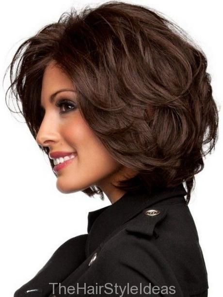 Dark Brown Short Layered Hairstyle for Thick Hairs