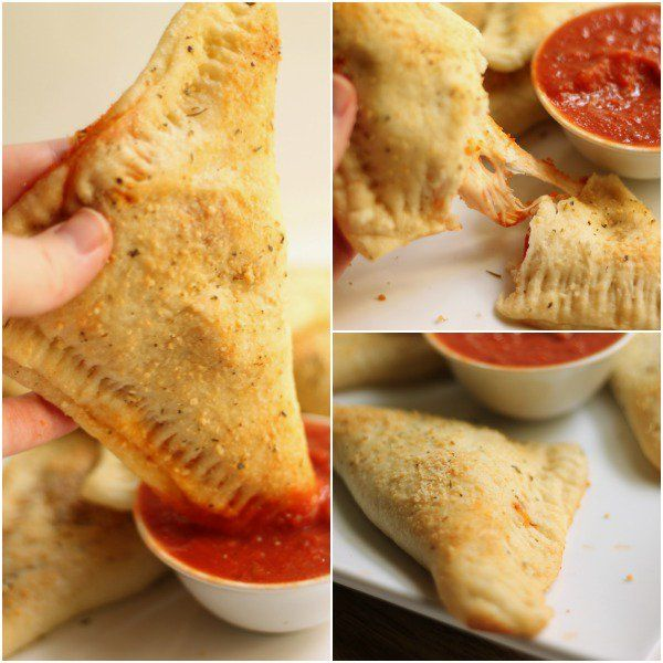 Easy Calzone Recipe INGREDIENTS  13.8-oz refrigerated pizza crust 1/2 cup pizza sauce 1 cup shredded mozzarella cheese 18 slices pepperoni 1 tablespoon butter, melted Italian seasoning, to taste grated parmesan cheese, to taste