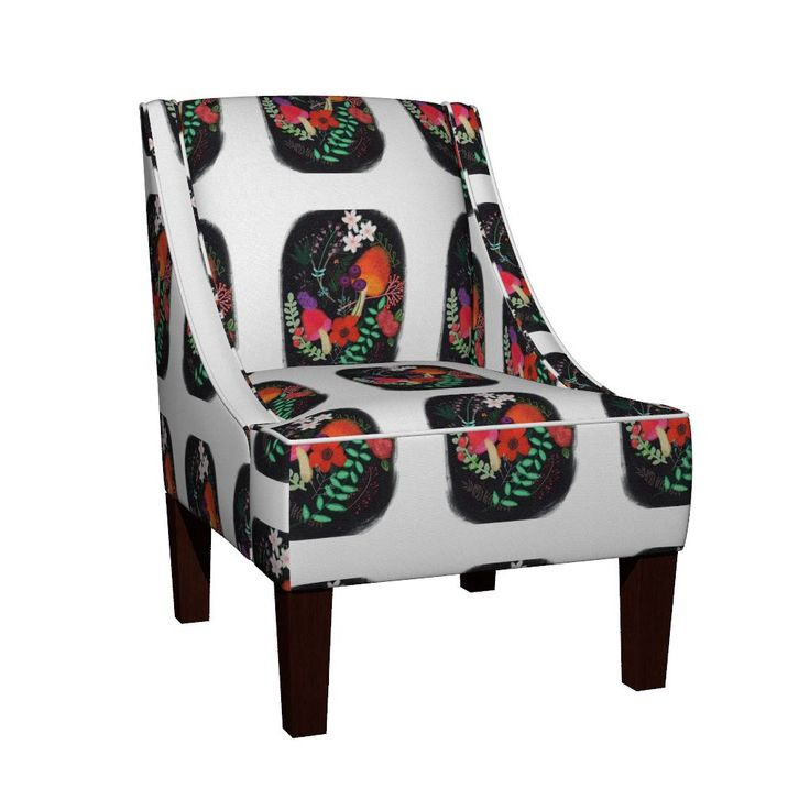 Venda Sloped Arm Chair featuring IMG_3639 by ali_lamontagne_illustration_ | Roostery Home Decor