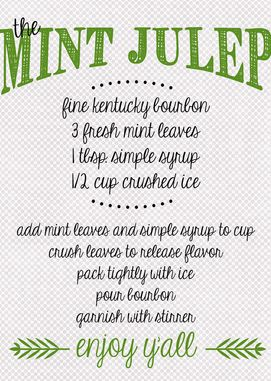 Going To Try This In Honor Of The Kentucky Derby This