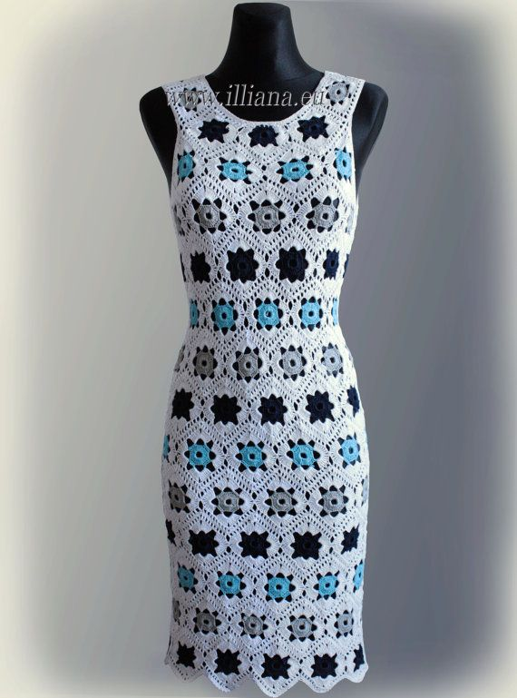 Dress. Crochet Pattern No 229 by Illiana on Etsy, $4.90