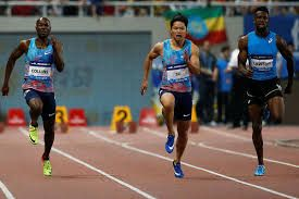 Another Underdog won the 2nd circuit of the Diamond League Shanghai. Bingtian Su took a win in front of his hme crowd. The China man clocked 10.09. Su blasted out and left everyone behind at the start. Rodgers had to work extra hard but ran out of track to catch Su.   #Adam Gemili #Eilish McColgan #IAAF World Championships in Athletics #James Dasaolu #Jessica Ennis-Hill #Katarina Johnson-Thompson #Mo Farah #Olympic Games #UK Athletics #Usain Bolt