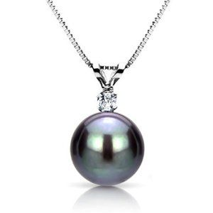 14k White Gold .05tcw Diamond 8-9mm Round Black Tahitian Cultured Pearl Pendant Necklace, 18″	by La Regis Jewelry - See more at: http://blackdiamondgemstone.com/jewelry/necklaces/pendants/14k-white-gold-05tcw-diamond-89mm-round-black-tahitian-cultured-pearl-pendant-necklace-18-com/#sthash.Y3ZACdyv.dpuf