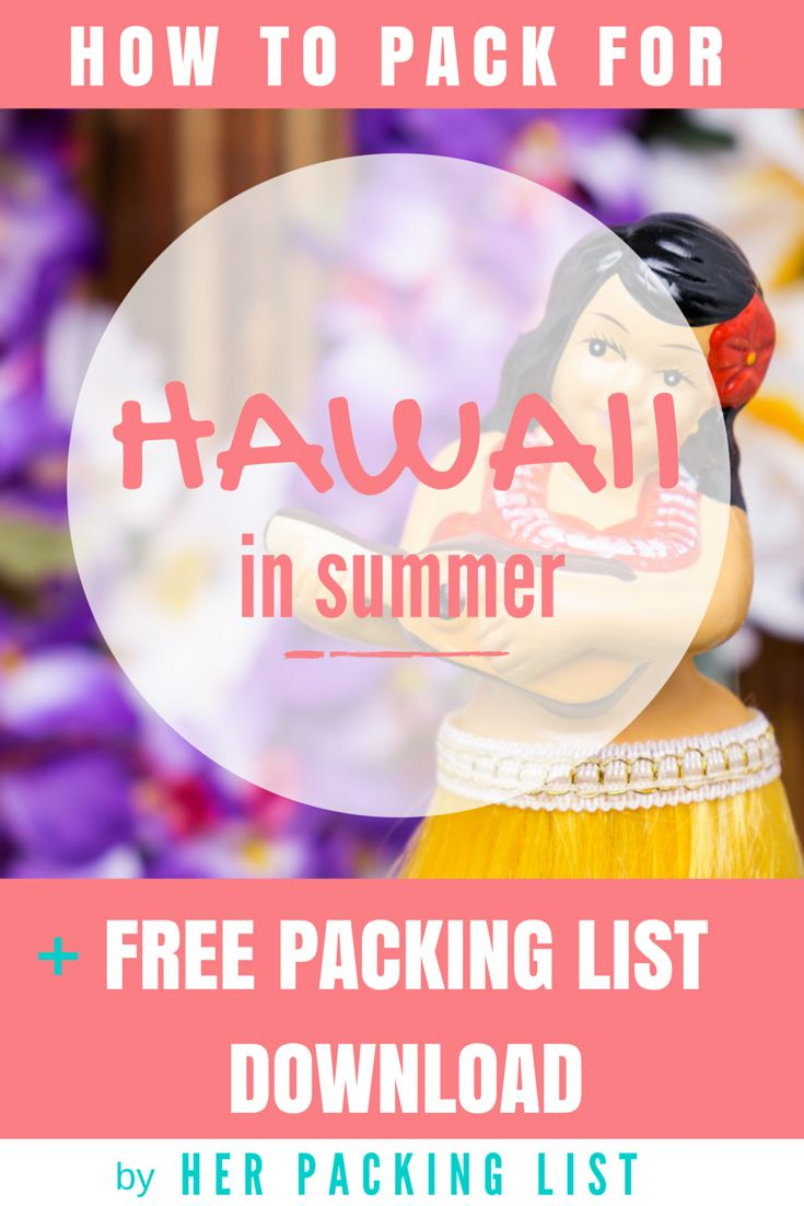Love the new downloadable packing lists from Her Packing List! This one for Hawaii in summer is so helpful.