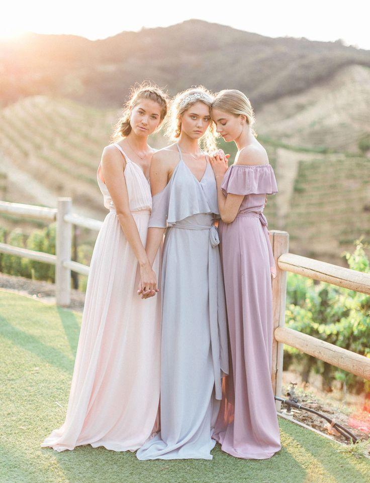 Pastel Mix And Match Bridesmaids Ideas Love Romantic Bridesmaid Dresses Pastel Bridesmaid Dresses Pastel Bridesmaids