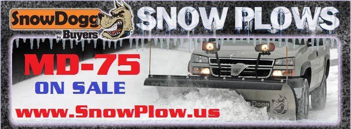 MD75-SnowDogg Snow Plow 7-1/2' Medium-Duty Straight Blade