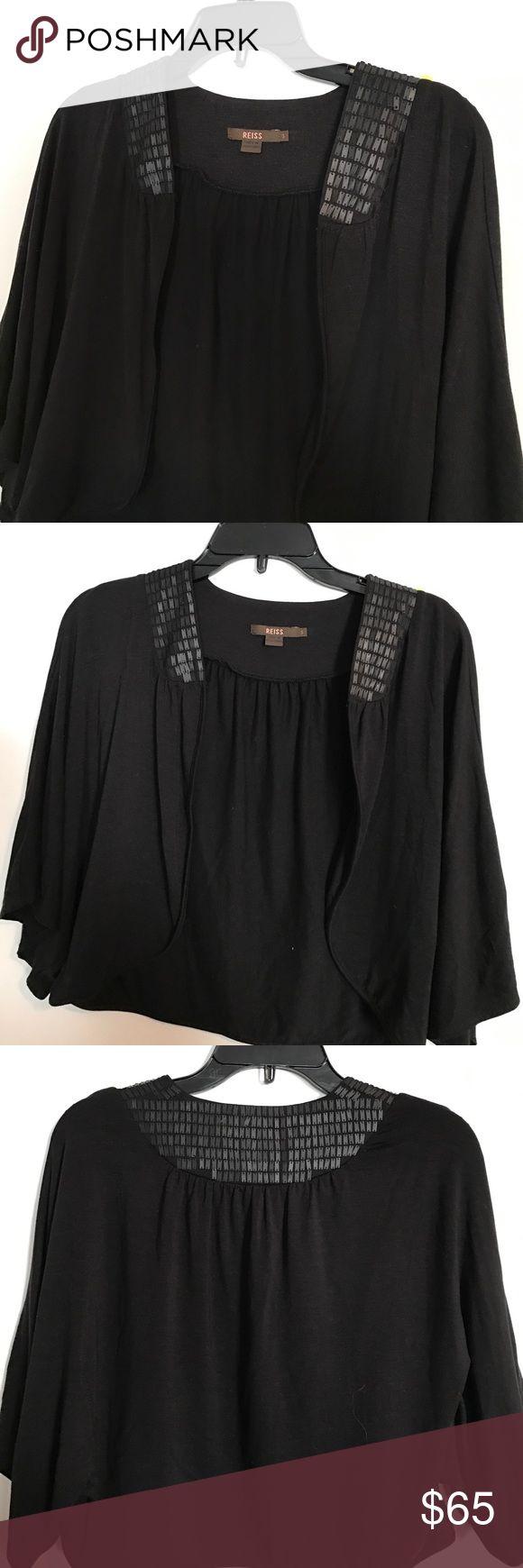 Reiss. Black sequin cape Gorgeous black cape by Reiss Reiss Tops