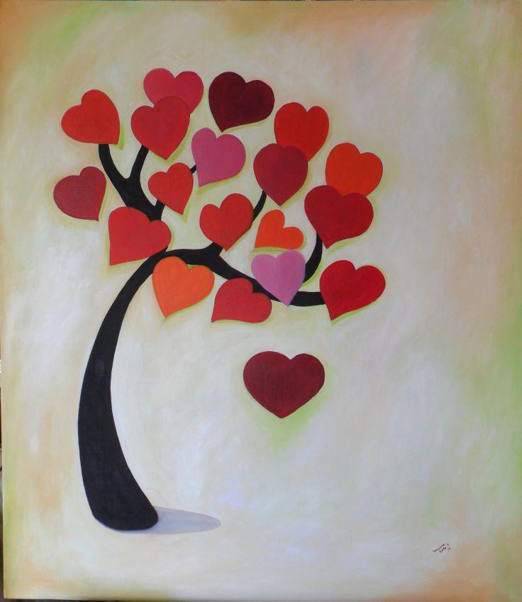 Árbol de corazones Oleo sobre tela Susana Soto Poblette 2012