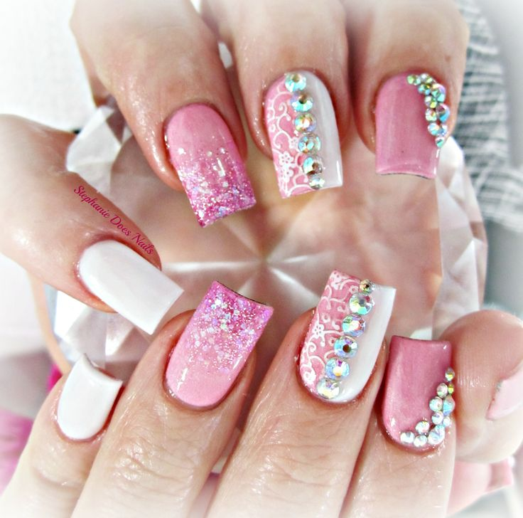 beautiful girly nails designs 16 concerning inspiration article - 25 Beautiful Girly Nails Designs – Slybury.com