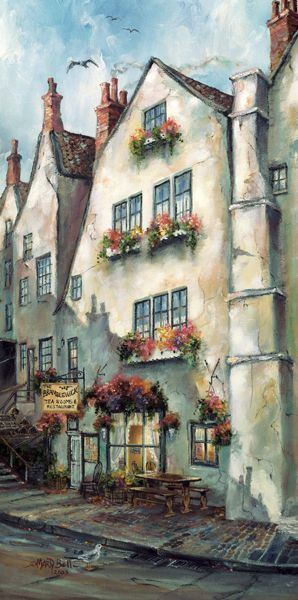 Bramblewick Tea Room in Robin Hood's Bay, North Yorkshire, England • artist: Marty Bell