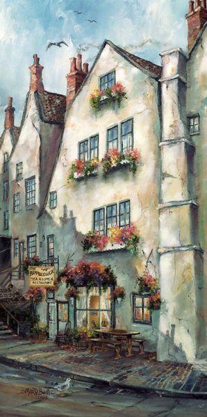 """✿ڿڰۣ(̆̃̃•Aussiegirl """"Bramblewick Tea Room"""" painting by: Marty Bell: Teas Rooms, Robins Hoods, Art Watercolor, Watercolor Paintings, Bramblewick Teas, Rooms Paintings, Fine Art, Marty Belle Paintings, Sweet Home"""