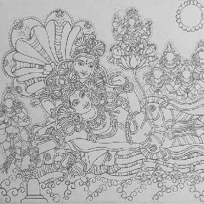 kerala mural basics pencil - Google Search