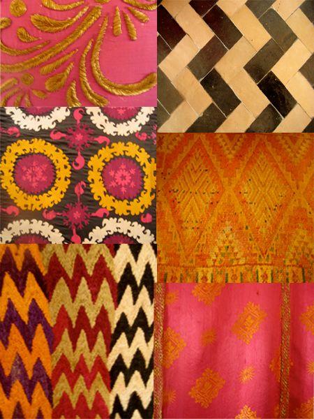 Moroccan patterns: Colour, Colors Patterns, Ideas, Color Patterns I M, Color Pattern Texture, Moroccan Pattern, Color Texture Design, Patterns Textures Design, Marrakesh Patterns