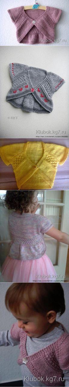 Bolero for baby knit