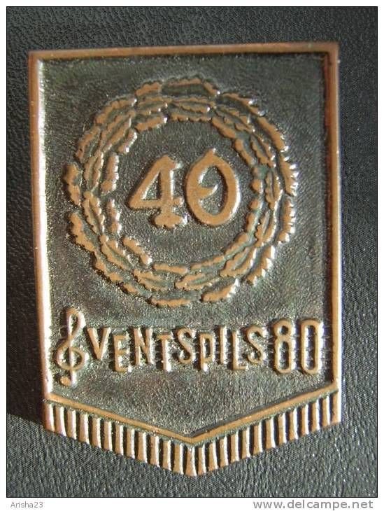 Latvia Ventspils 80 - 40 Latvian Song & Dance Festival Badge Pin collectibles - rare