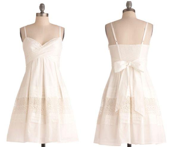 #white #sundress #wedding