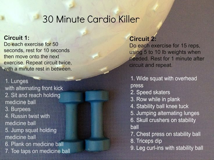 30 Minute Cardio Killer. 2 Circuits, Lots Of Cardio And A