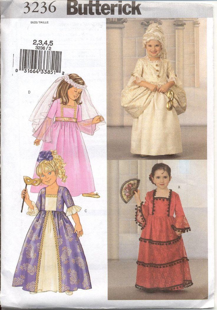 Amazon.com: Butterick Sewing Pattern B3236 (child size 2, 3, 4, 5)