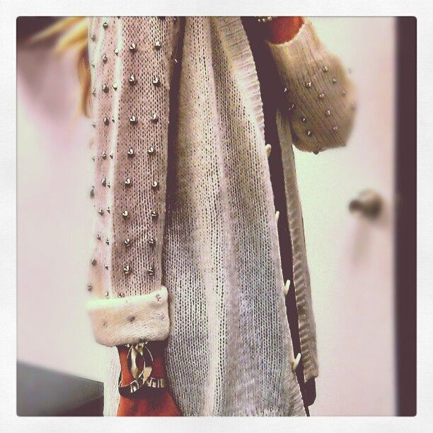 Studded sweater comfy casual cool skater punk  grunge studs spikes