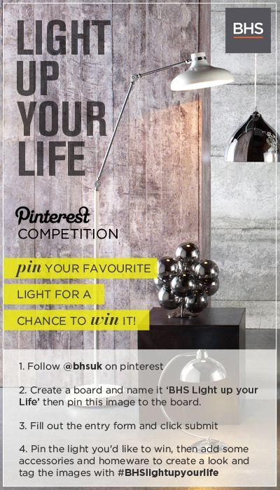 Pin for your chance to win with the BHS 'Light up your life' competition #BHSlightupyourlife